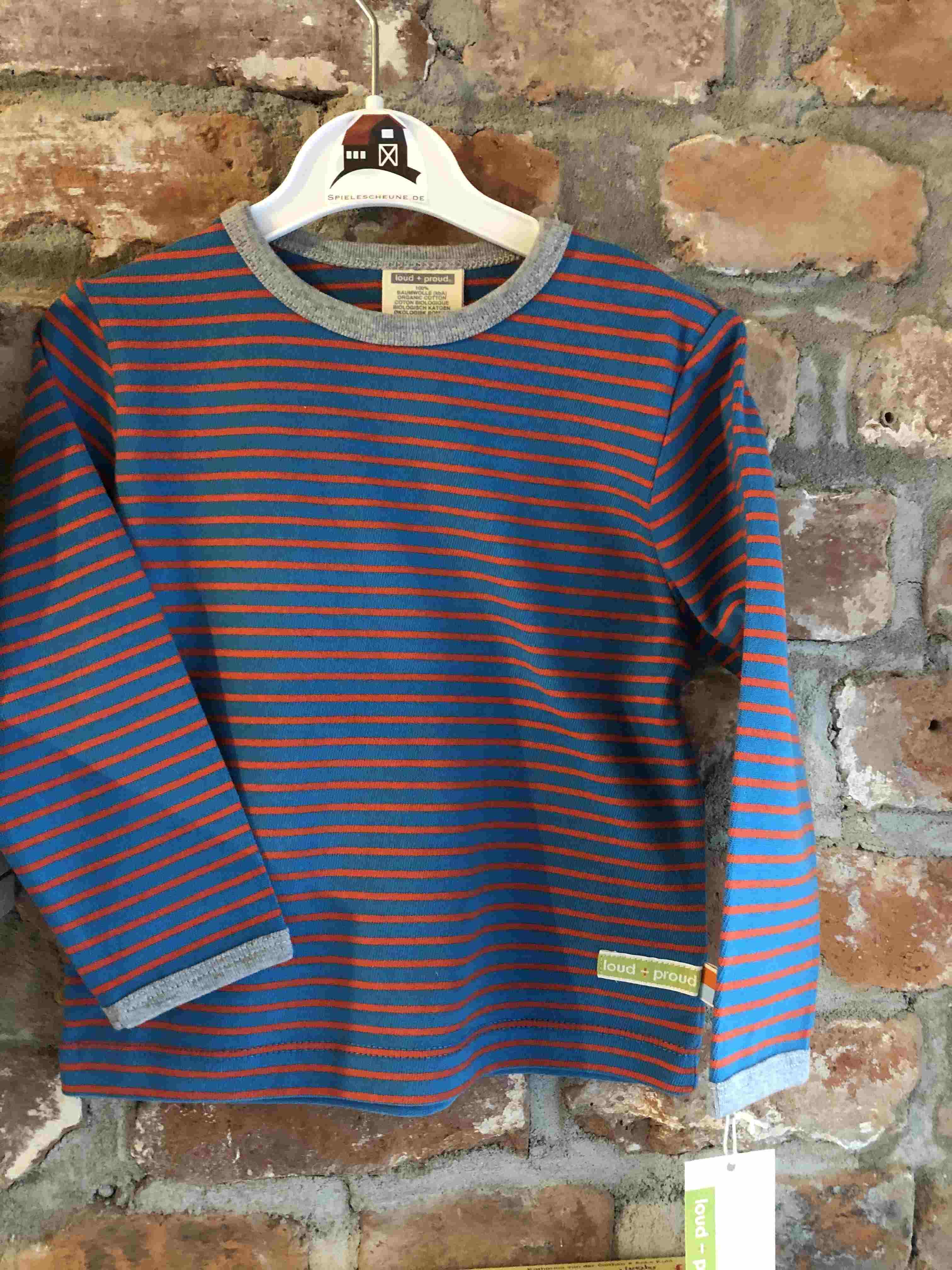 c8d2b051a Shirt Ringel blau orange 74 80 (loud and proud) - Spielescheune.de
